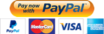 Payment by PayPal and credit cards